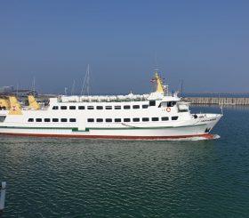 Lady von Büsum im Hafen von Helgoland